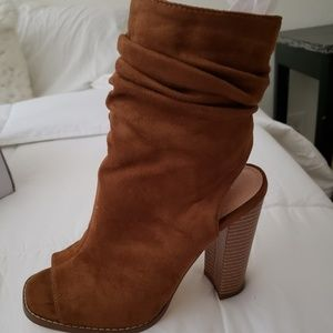 Like new open toe booties. Size 6.5